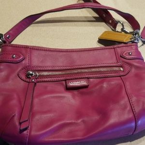 Dark Pink Coach Purse